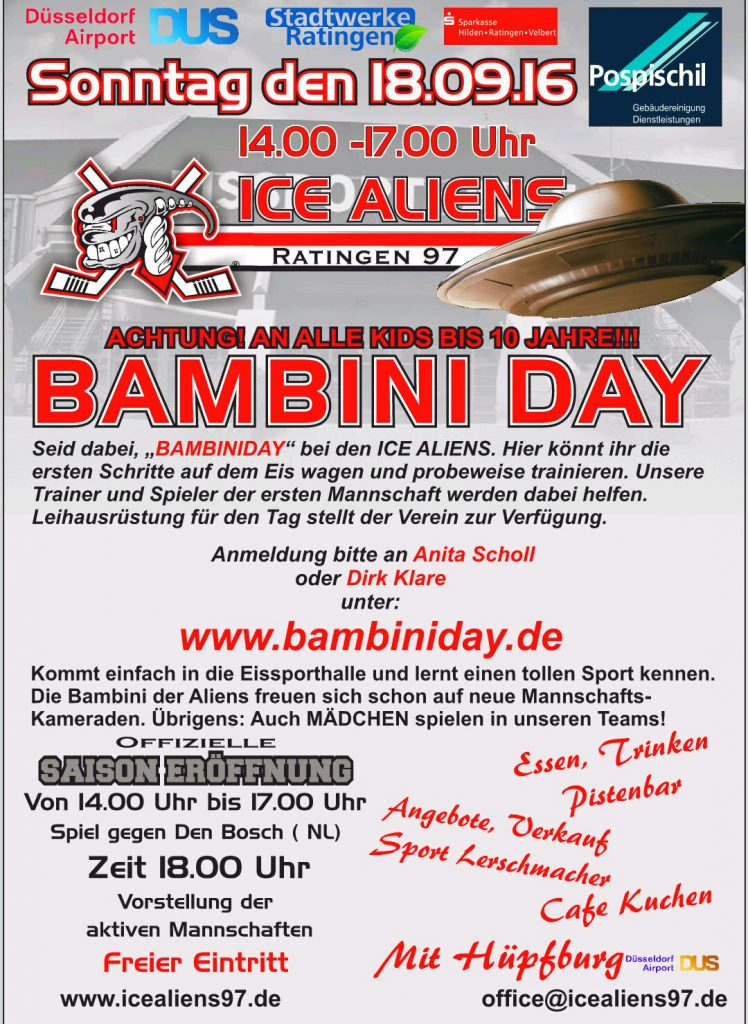 2016, Flyer Bambiniday 18.Sept. DIN A 6 iKk