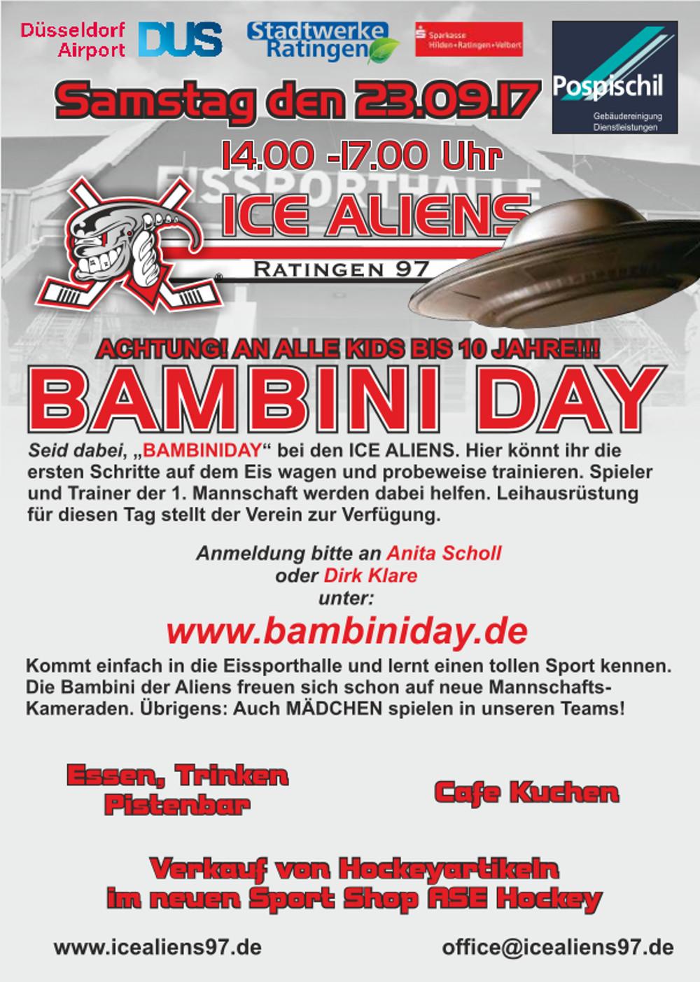 Heiß auf Eis!? Bambini-Day bei den Ratinger Ice Aliens!