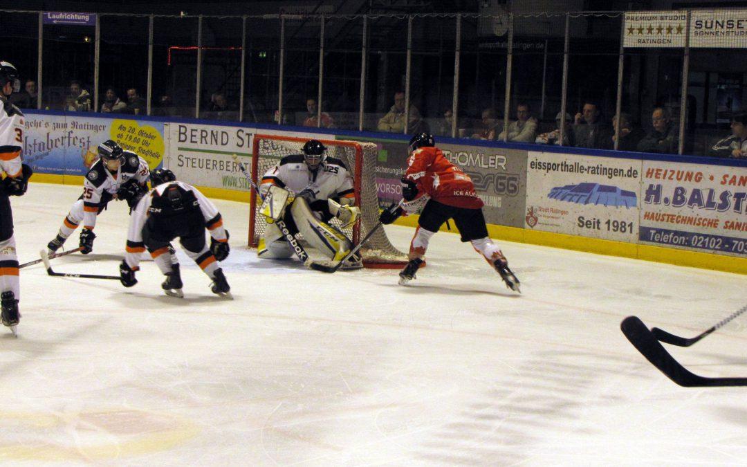 Auch in Ratingen gibt es für die Frankfurter Löwen nichts zu holen, die Ice Aliens gewinnen mit 8:2