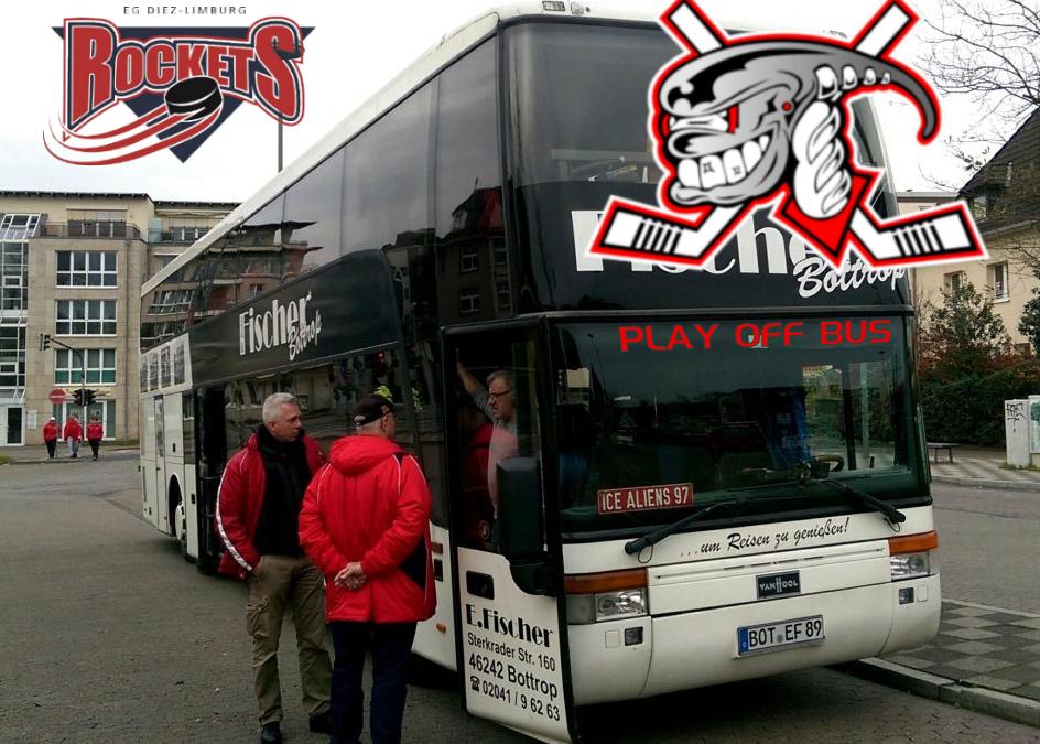 Play Off Bus nach Diez-Limburg für die Fans der Ice Aliens
