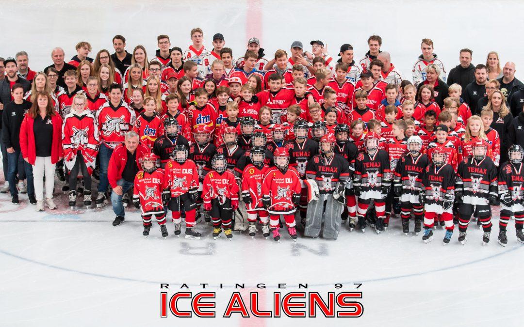 Das Trainerteam für den Ice Aliens Nachwuchs steht