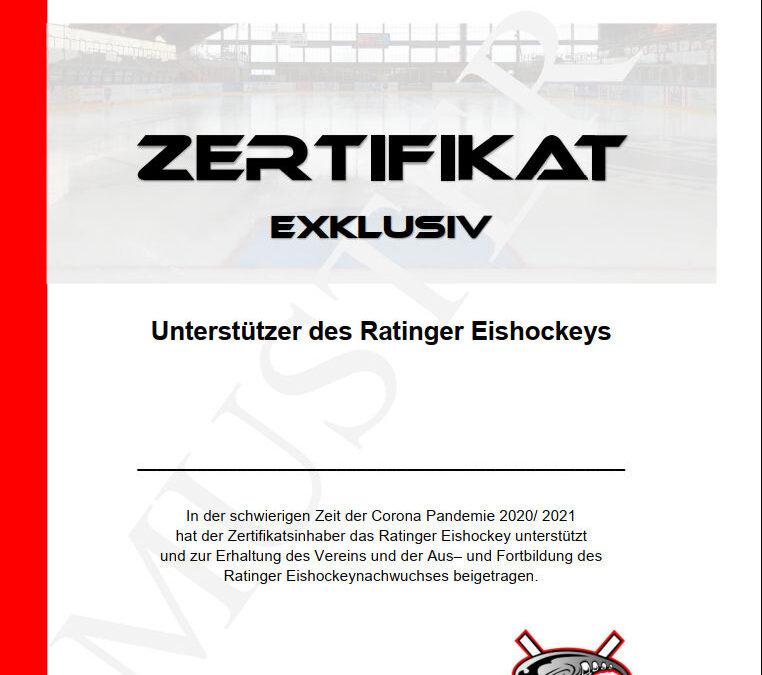 Unterstützer des Ratinger Eishockeys – Prämien sind eingetroffen