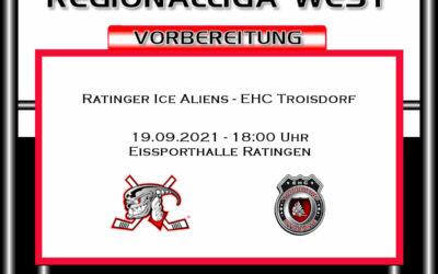 Ice Aliens bestreiten letztes Vorbereitungsspiel