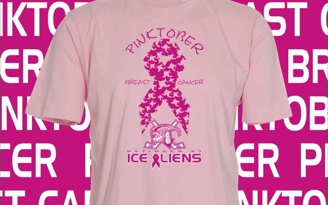 Ice Aliens unterstützen den Pink October und möchten für Brustkrebs sensibilisieren – Exklusive Shirts im Rahmen dieser Aktion