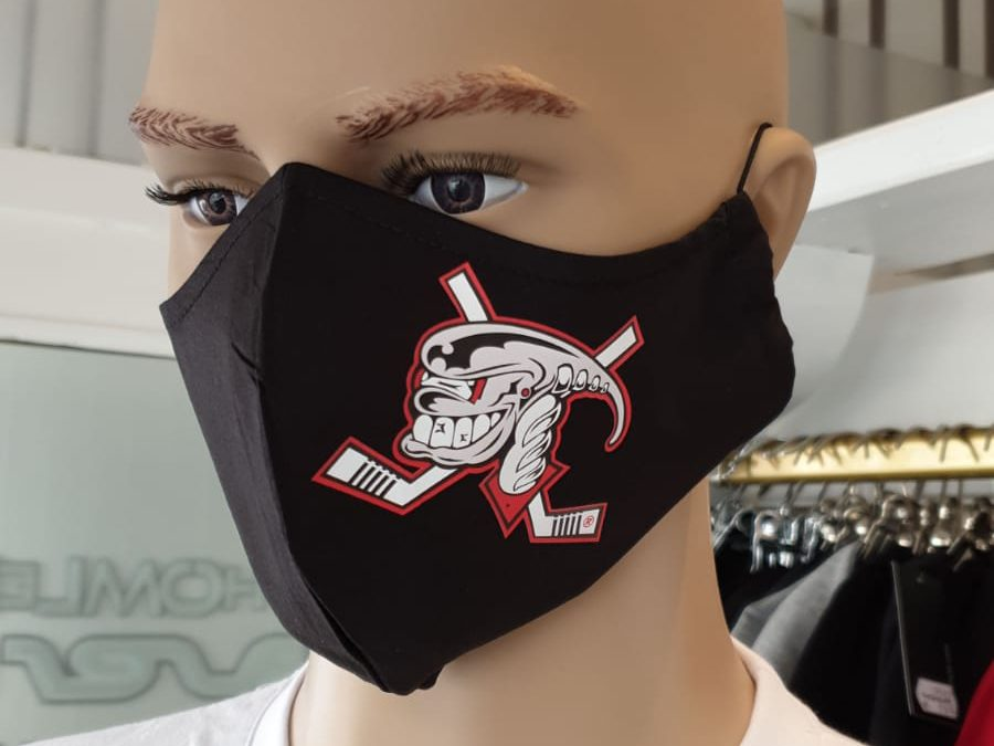 Ice Aliens bieten Schutzmasken mit Logo kostenlos für Mitglieder