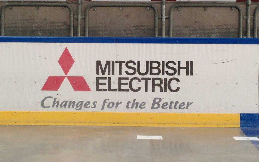 Mitsubishi Electric wirbt weiterhin bei den Ratinger Ice Aliens