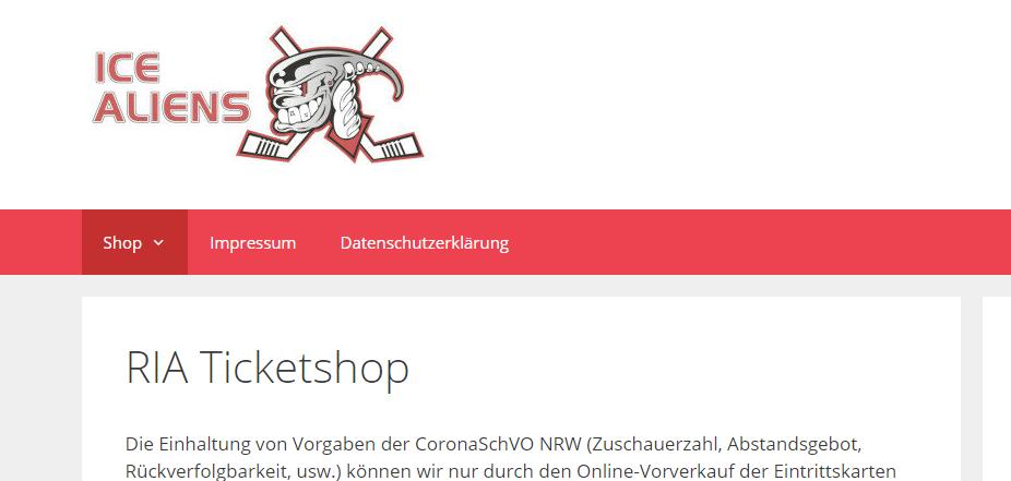 Ice Aliens starten die Regionalliga West am 30. Oktober gegen die Moskitos, Tickets über den neuen online-shop